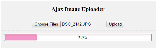 Ajax Image Upload and Resize with Progressbar