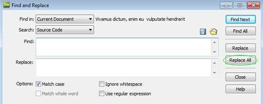 Minify HTML Codes using Dreamweaver – Sanwebe
