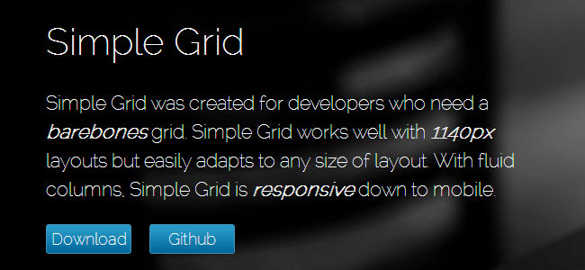 Simple Responsive Grids