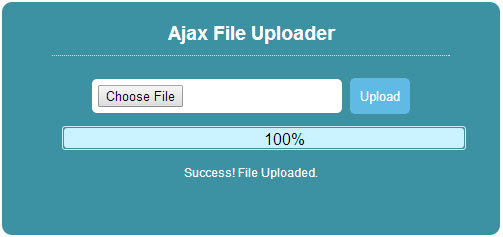 Ajax File Upload with PHP, HTML5 File API and jQuery – Sanwebe