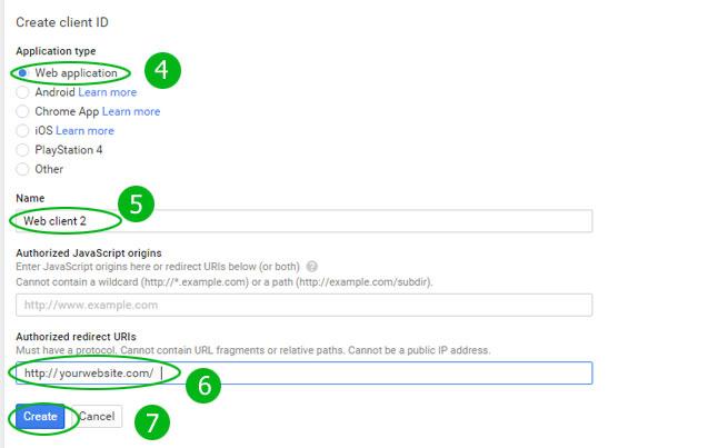 Creating Google OAuth 2 0 Client API Keys – Sanwebe