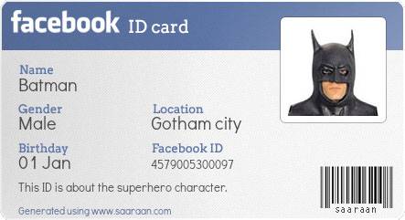 Generate Facebook ID Card with PHP – Blank Id Card Template