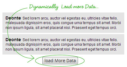 jQuery Load More Data