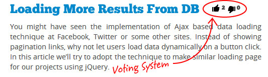 Voting System Youtube Style With jQuery & PHP – Sanwebe