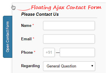 Floating Ajax Contact Form
