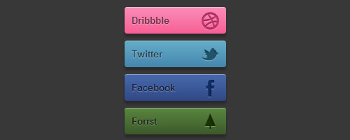 Amazing CSS3 Social Buttons