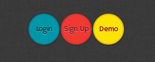 css3 circle animated buttons